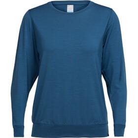 Icebreaker W's Mira LS Crewe Shirt prussian blue